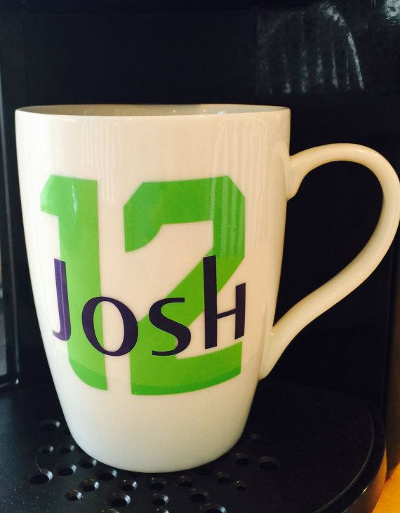 Seattle Football SeaHawks Coffee Cup/Mug by TheHawksScore on Etsy