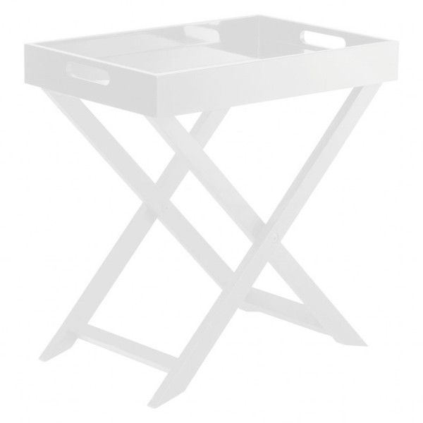 OKEN White folding side table ($43) ❤ liked on Polyvore featuring home, furniture, tables, accent tables, white folding table, lacquer side table, lacquer furniture, folding furniture and white side table