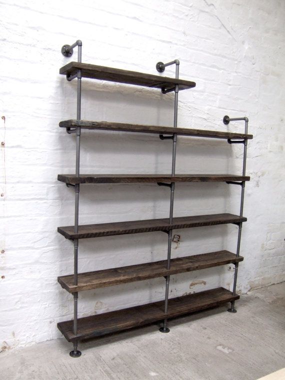 Vintage Industrial Styled Gas Pipe and Reclaimed by TrashTheHouse