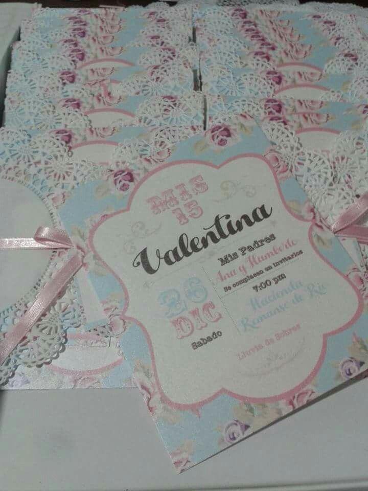 Invitaciones tarjetas 15 años vintage