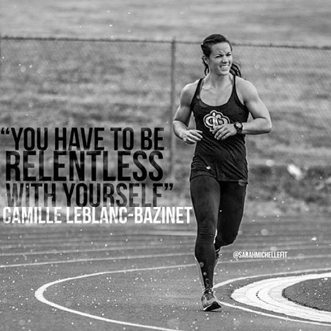 """You have to be relentless with yourself."" Camille Leblanc-Bazinet"