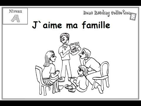 Narrated story book in a video!  J'aime ma famille