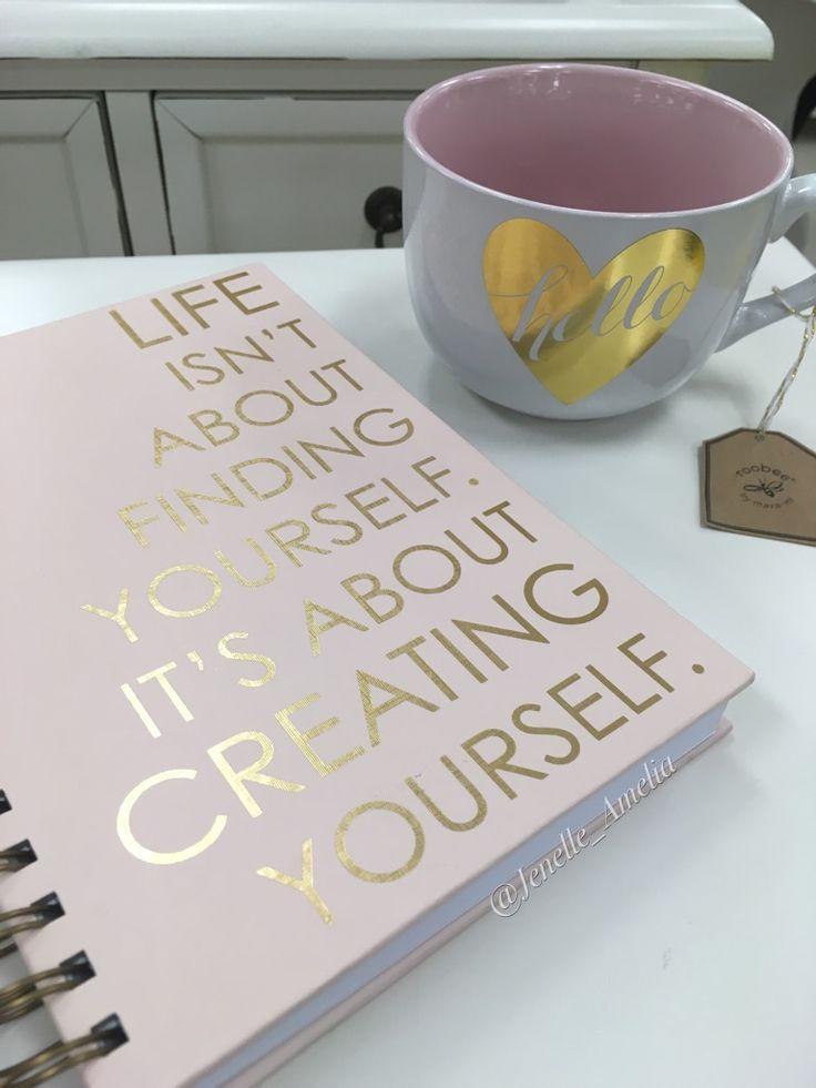 Notebook and coffee mug #MarshallsFind