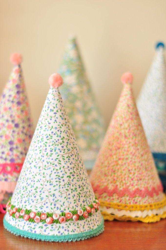 absolutely gorgeous party hats by oscarlucinda - oscarlucinda.blogspot.com.au