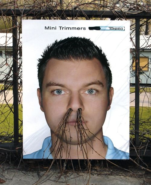 environment interactive ad, nose trimmers