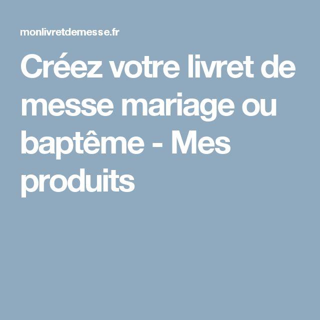 Créez votre livret de messe mariage ou baptême - Mes produits