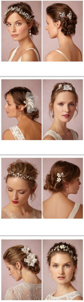 Gorgeous bridal hairstyles + headpieces from bhldn
