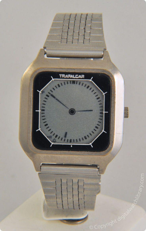 trafalgar quartz digitalhands vintage digital