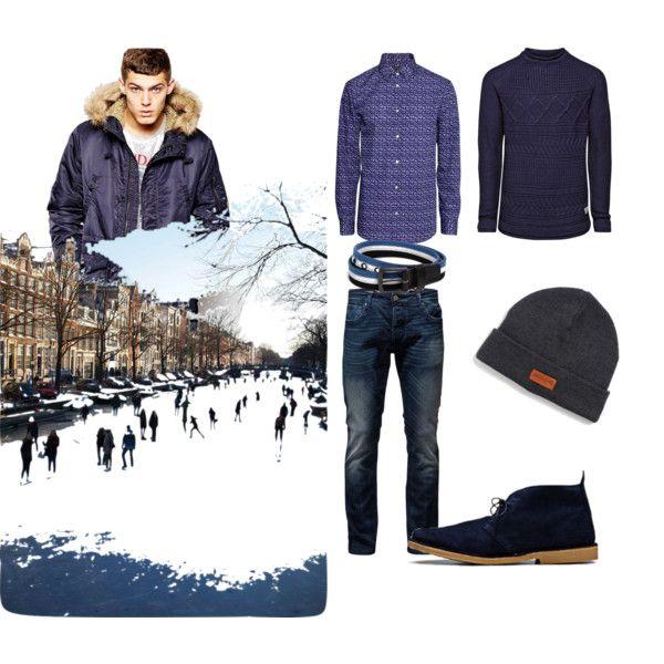 januar stylingen by vesna-krivokapic on Polyvore featuring Jack & Jones and H&M