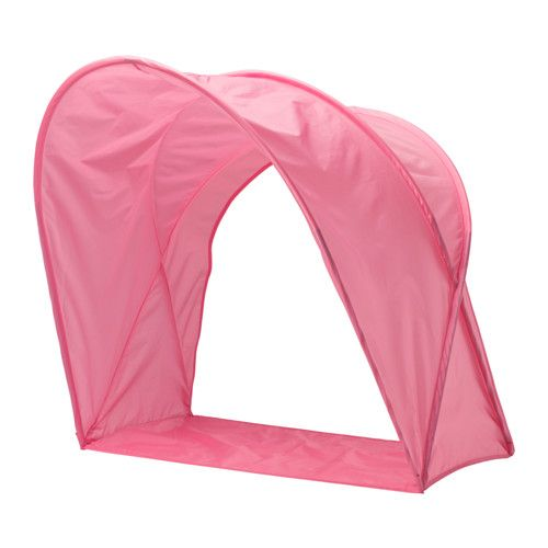 IKEA - SUFFLETT, Bed tent, , With this bed tent your child has their own cozy nook to sleep or read in.You can easily make the bed since the tent can be partially folded.