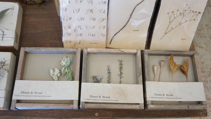秋の展示会「花と木」ドライフラワーと木の雑貨の世界|心に残る贈り物にアンティーク風手作りの木製額縁屋