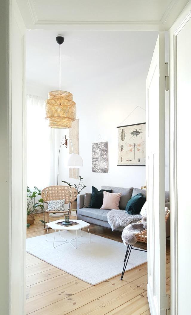 Interior Scandi Monstera Wohnzimmer Im Scandi Style