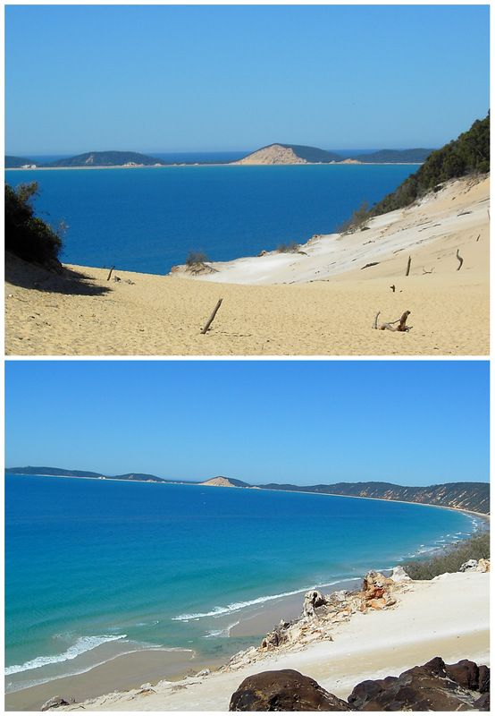 Rainbow Beach, Queensland, Australia.  Beautiful and natural....drive to Gympie north of Brisbane then head towards the coast. or alternatively drive up the beach.