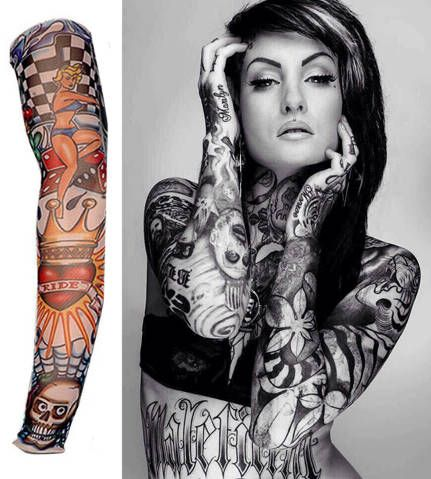 Tattoo Sleeve Nylon Elastic Boy Arm