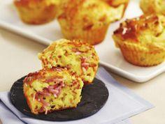 Muffins au rapé de jambon et au comté