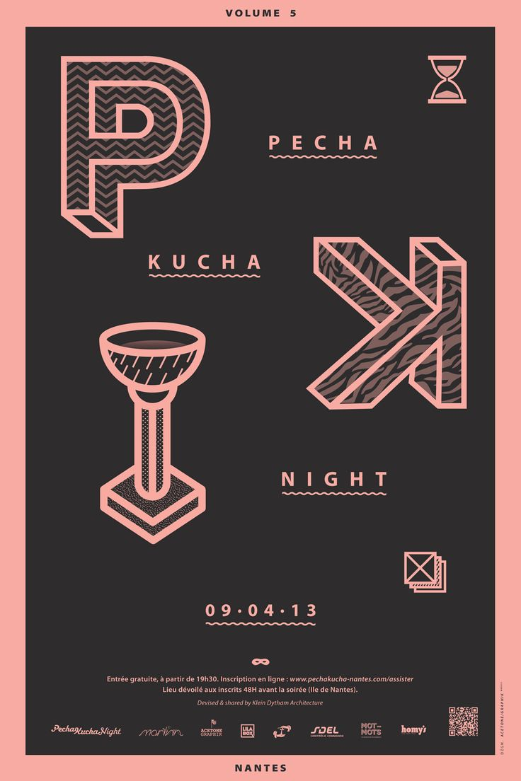 Affiche Pecha Kucha Nantes © Acetone graphik