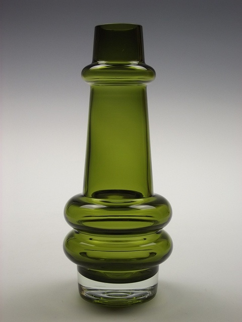 Riihimaki olive green glass vase designed by Tamara Aladin by art-of-glass, via Flickr