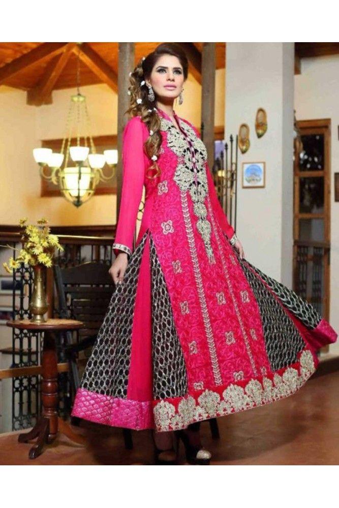 Stand out royal wearing this Pink and Black Salwar suit this Eid. #womensethnicwear #salwarsuitsforwomen #ethnicwearforwomen https://trendybharat.com/women/ethnics-wear/women-ethnic-wear-pakistani-lawn-suits/pink-and-black-chiffon-salwar-suit-set-wa0157