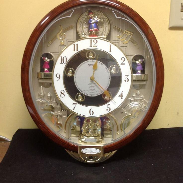 Seiko Musical Beatles Clock W Rotating Swarovski Crystal