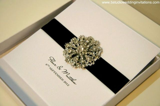 Elegant black and white invite