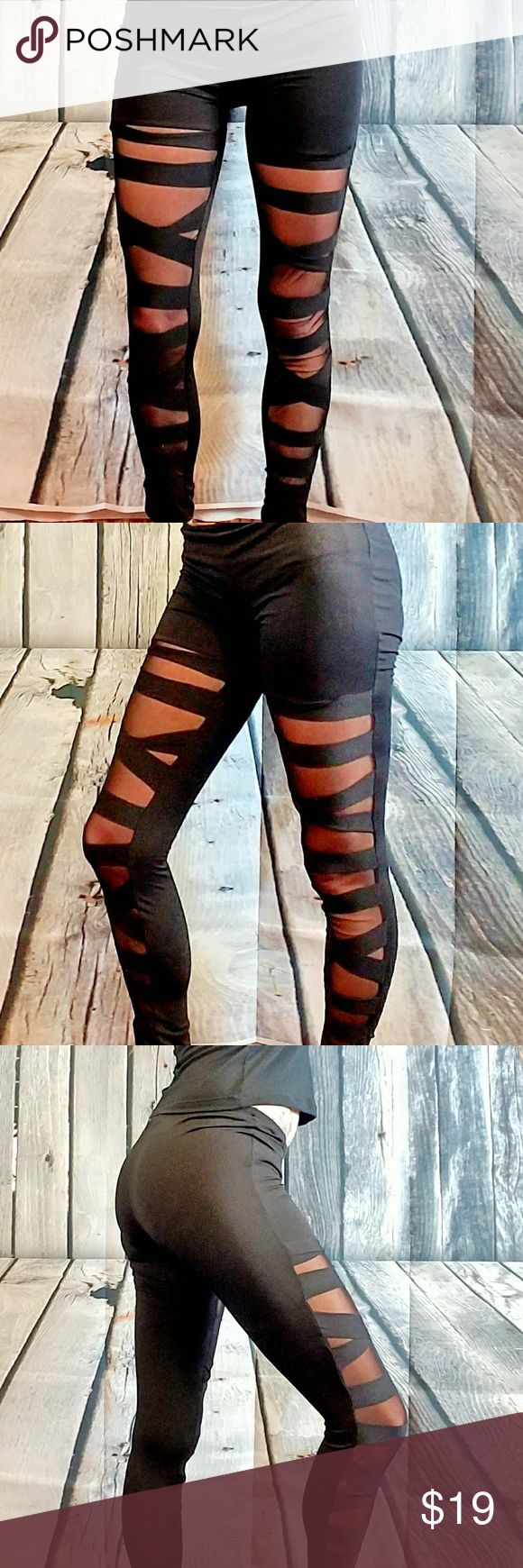 black see through leggings s/m black see through leggings can be dressed up or down, can turn any outfit into the perfect outfit 😘 size small/ medium Pants Leggings