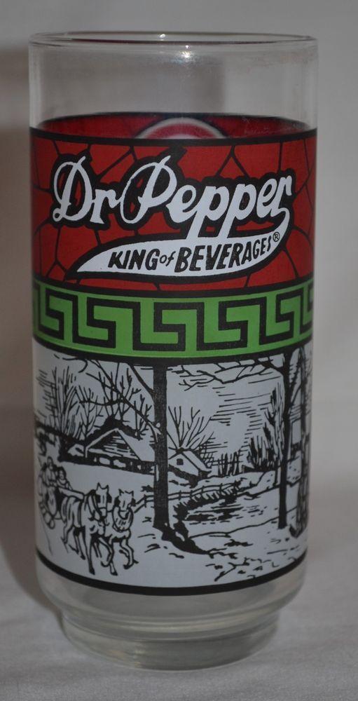 Dr. Pepper King of Beverages Dairy Queen Vintage Drinking Glass  #DrPepperDairyQueen