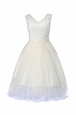 vintage bridal φόρεμα parfait εκρού τούλι