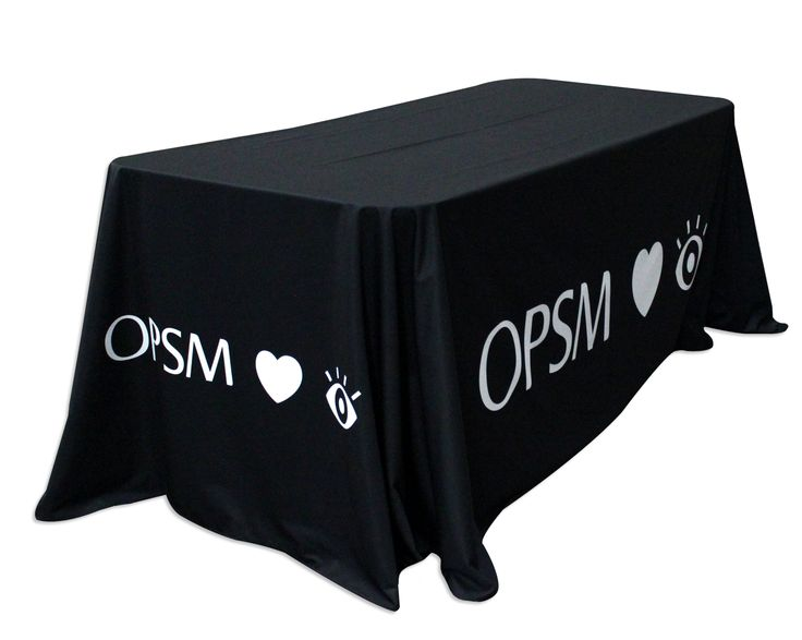 OPSM opted for a stylish Table Throw cover made from knitted polyester, making it heavier and perfect for draping without wrinkles in the fabric. Print your brand on a Table Throw from Star Outdoor at www.staroutdoor.com.au or talk to the corporate branding experts on 1300 721 877.