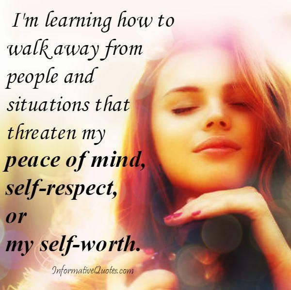 Respect yourself enough to walk away from anything that no longer serves you, grows you, or makes you #happy.