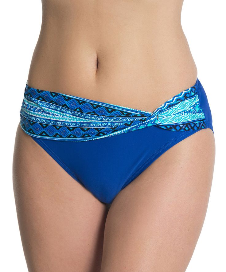Another great find on #zulily! North Adriatic Gold High-Waisted Bikini Bottoms by Beach Diva #zulilyfinds