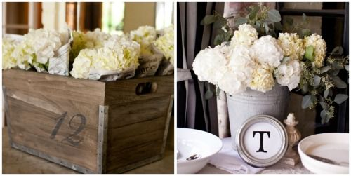 White hydrangeas are a fantastic flower choice for a gender neutral baby shower! #genderneutral #babyshowerGender Neutral Baby Shower, Hydrangeas Genderneutral, Genderneutral Babyshower, Rustic Theme Baby Shower