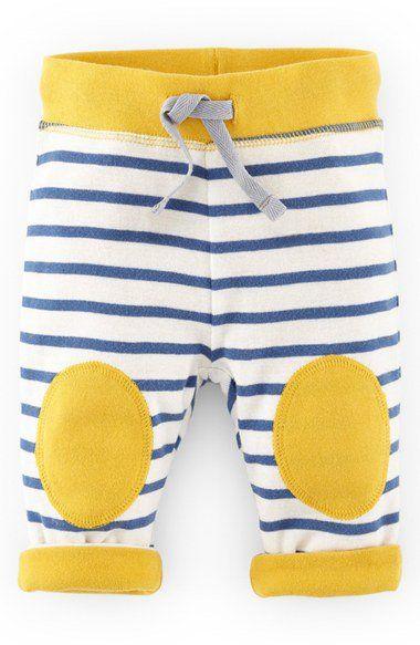 Mini Boden Reversible Knee Patch Pants (Baby Boys) | So cute with Digger top