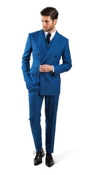 ダブルスーツの着こなしブルーのHVRMINN Spring/Summer 2014
