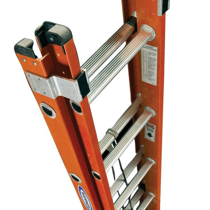 Werner 32 ft. Fiberglass Extension Ladder with 300 lb. Load Capacity Type IA Duty Rating - D6232-2 - The Home Depot
