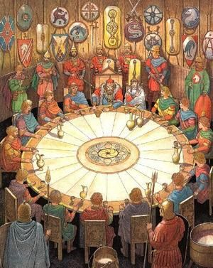 The Round Table first appears in Wace's Roman de Brut, a Norman language…