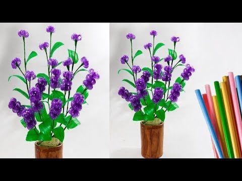 Bunga Sedotan Kreatif Hiasan Meja Ruang Tamu Flowers Straw