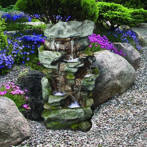 5Tier Orowood Outdoor Fountain with Lights at Menards