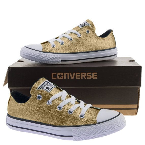 Converse shoes converse gold glitter wedding by RagzDagzTM on Etsy