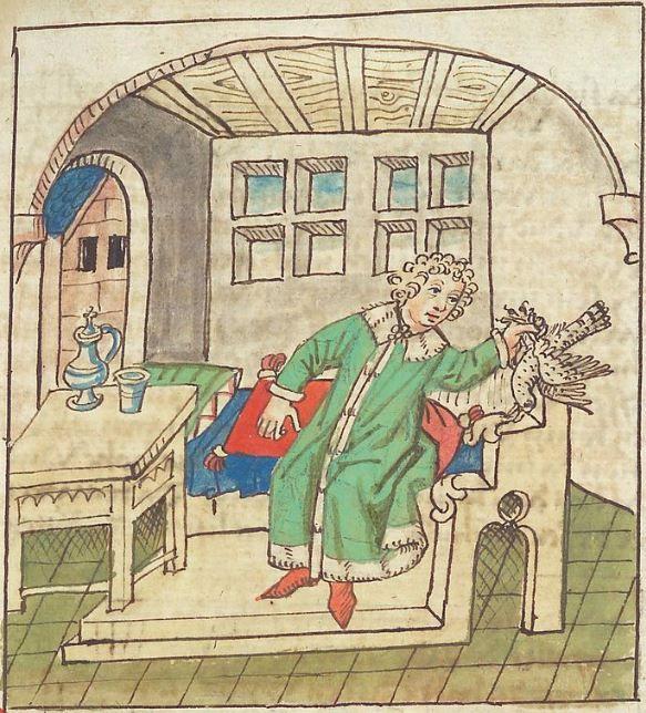 Antonius <von Pforr> Buch der Beispiele — Schwaben, um 1480/1490 Cod. Pal. germ. 85 Folio 155r