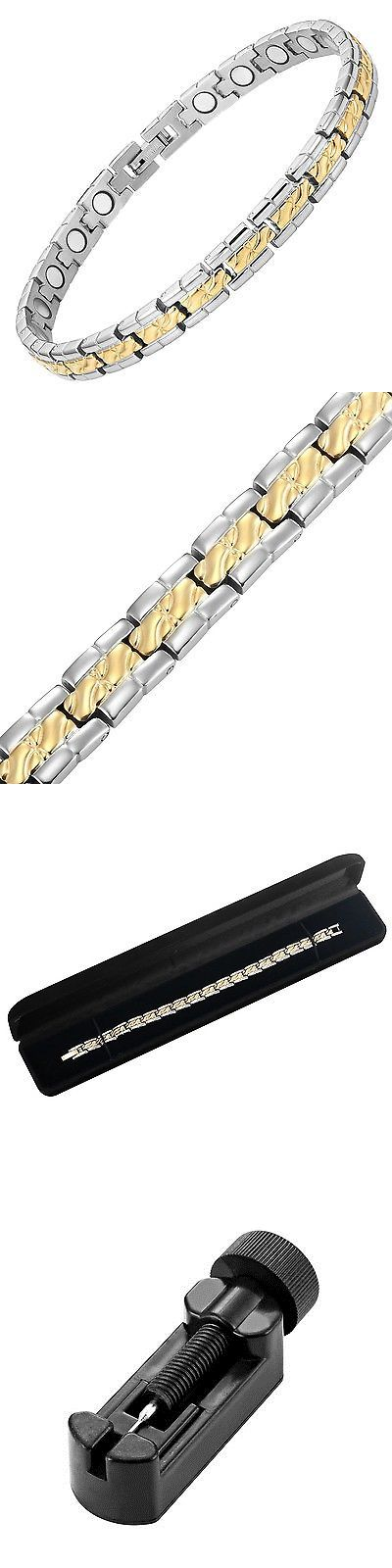 Magnetic Therapy Devices: Womens Titanium Magnetic Therapy Bracelet For Arthritis Pain Relief And Carpa... BUY IT NOW ONLY: $42.14