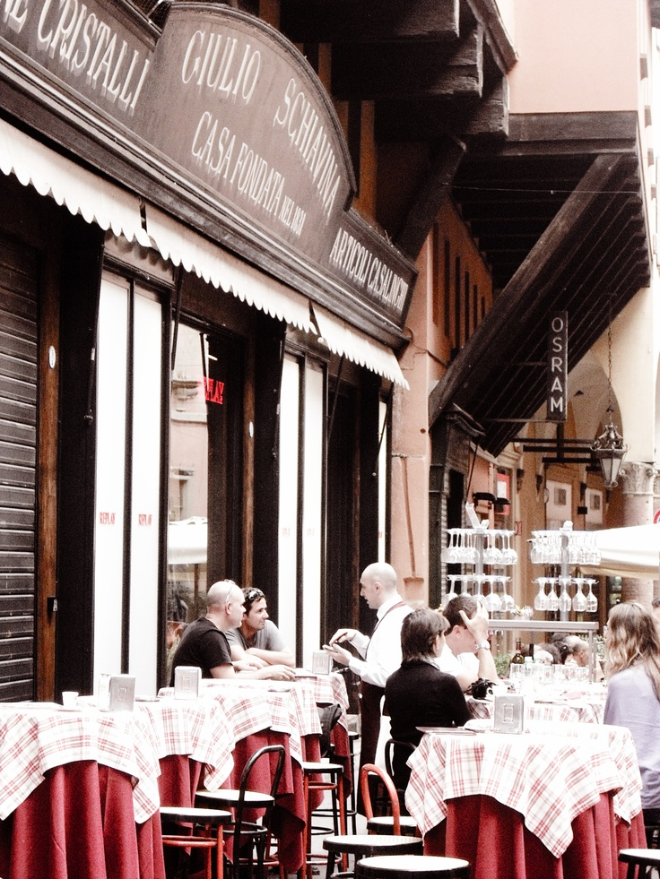 Restaurante italiano en Bolonia