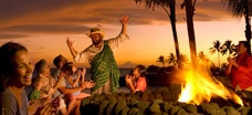 Caught a storytelling session with Uncle by accident one night at Aulani - pretty neat!!