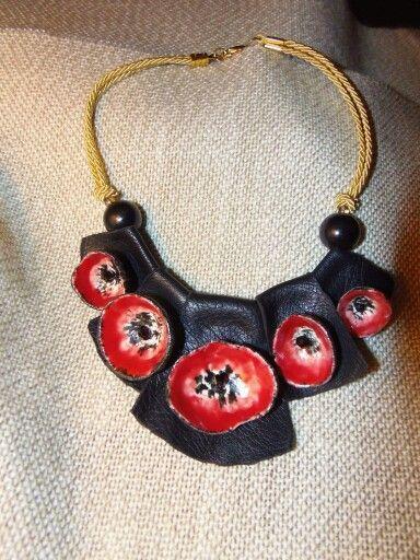 """Collezione """"Papavero rosso"""" #porcellana #hechoamano #artigianato #madeinpuglia #BibiMade"""