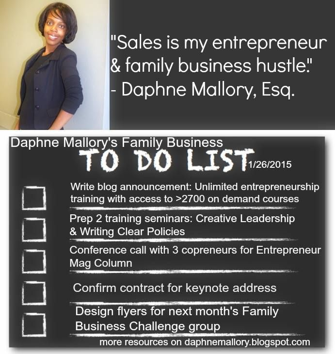 Use my daily business to-do lists to generate ideas for growing your family business.