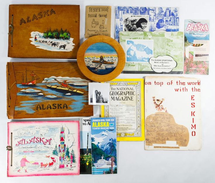 Lot 437: Alaska, Eskimo and Ship Photograph Albums; Including (266) photographs in (3) albums from 1945 to 1955 era, depicting the Bethel Moravian Church mission in Alaska, Eskimo students, a hospital, ships, sailors and fish camps; together with ephemera on the Alaskan Eskimo tribes