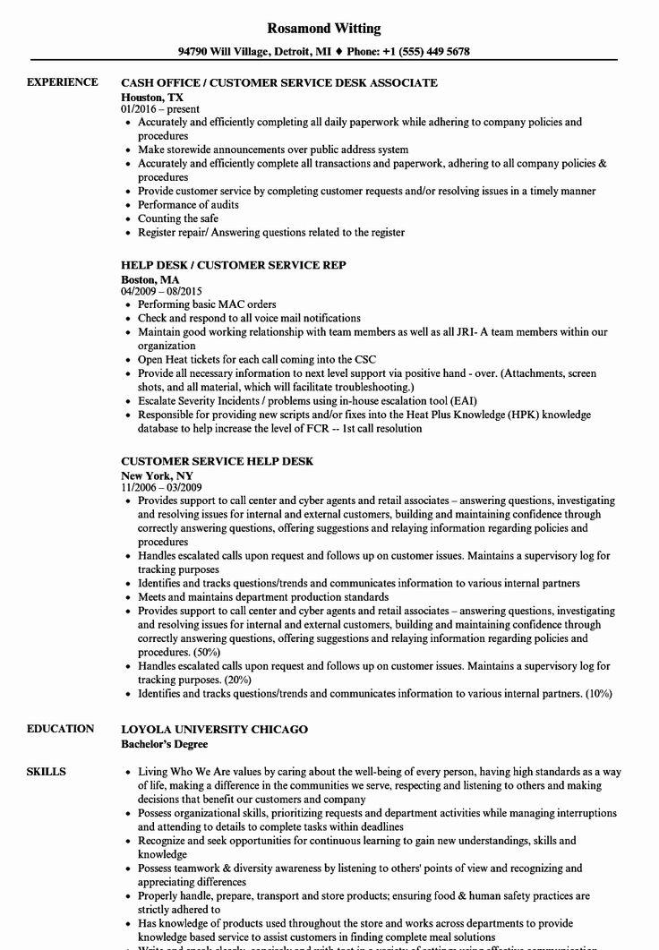 23 Help Desk Resume Example in 2020 Mechanical engineer