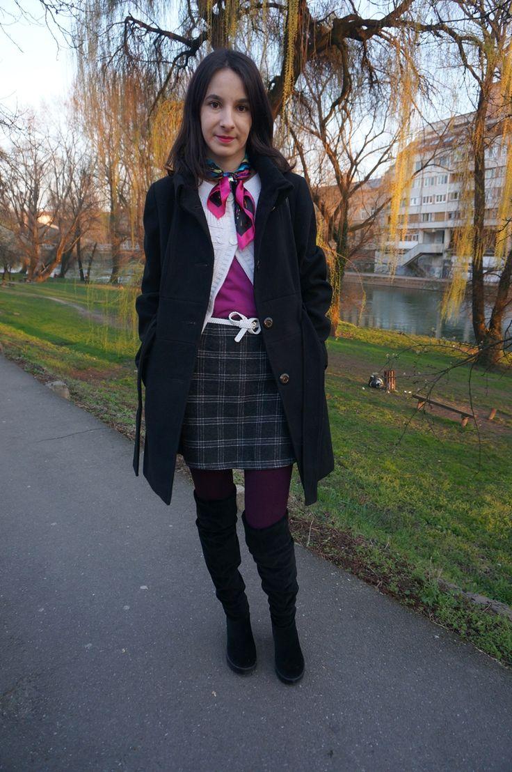 Simple chic: Motif plaid - Mini Skirt