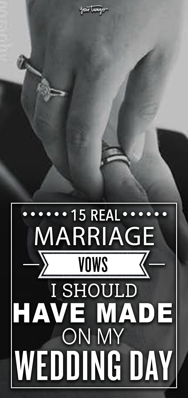 15 REAL Marriage Vows I Ought to've Made On My Wedding ceremony Day