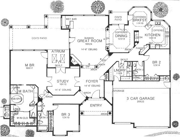 One Floor House Blueprint