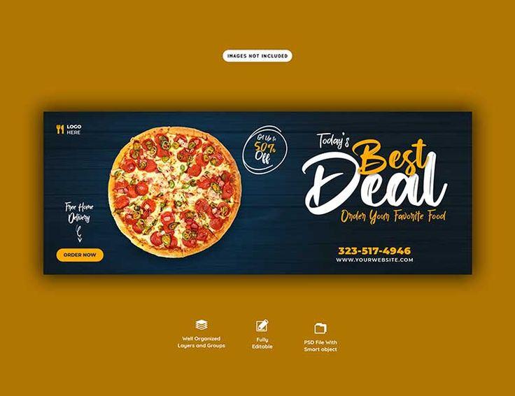 تحميل تصميم غلاف بيتزا Psd مجانا Banner Template Web Banner Company Brochure Design